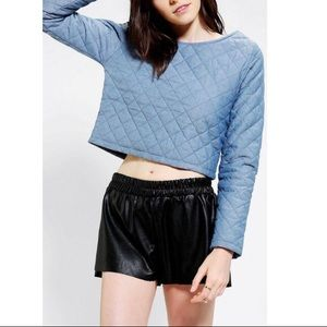 Bycorpus Blue Quilted Cropped Sweater